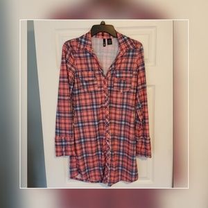 Plaid t shirt dress